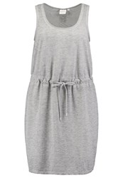 Junarose Jragneta Summer Dress Medium Grey Melange Mottled Grey