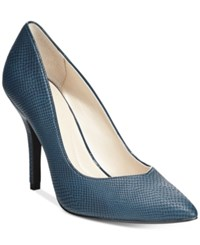 Styleandco. Style And Co. Pyxie Pumps Only At Macy's Women's Shoes Blue Steel Snake