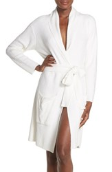 Women's Barefoot Dreams '429' Short Robe White Pearl Heather