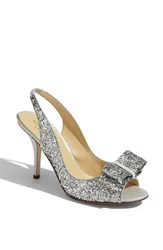 Women's Kate Spade New York 'Charm' Slingback Pump Silver Glitter