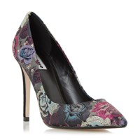 Dune Brocade Tapestry Pointed Toe Court Shoes Multi Coloured Multi Coloured