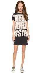 Marc By Marc Jacobs New World System Tee Shirt Dress Black Multi