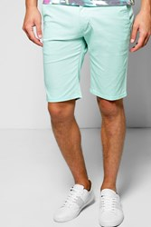 Boohoo Fit Stretch Chino Short Mint