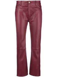 Mih Jeans Daily Cropped Trousers Red