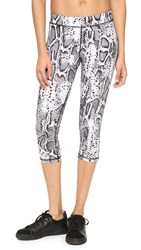 Hpe Snake Capri Leggings White