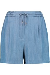 Karl Lagerfeld Maria Chambray Shorts Blue
