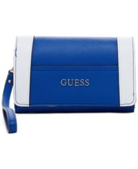 Guess Delaney Phone Organizer Blue Multi