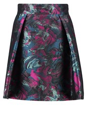 Versace Collection Pleated Skirt Turquoise