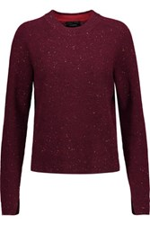 Rag And Bone Valentina Cropped Ribbed Cashmere Sweater Claret