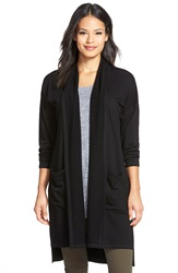 Eileen Fisher Knee Length Kimono Coat Black