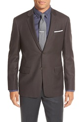 Todd Snyder Trim Fit Check Wool Sport Coat Dark Brown