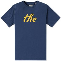 The Hill Side 'The' Printed Tee Blue