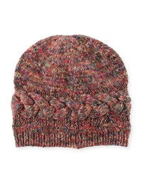 Il Borgo Braided Trim Cashmere Beanie Hat Multicolor Multi Colors