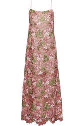 Anna Sui Guipure Lace Gown Blush