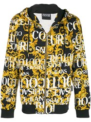 Versace Jeans Couture Printed Bomber Jacket Black