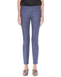 The Row Cosso Wool Stretch Skinny Pants Slate