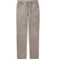 Massimo Alba Cotton Velvet Trousers Neutrals