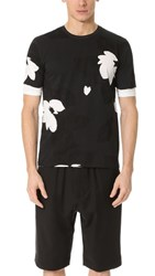 3.1 Phillip Lim Double Sleeve Night Floral Tee Soft Black