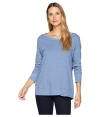 Fresh Produce Emily 3 4 Sleeve Top Deep Dive Clothing Blue