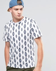 Another Influence Diamond Pattern T Shirt White