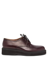 Marni Leather Derby Shoes Burgundy