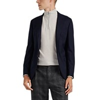 Eleventy Worsted Wool Two Button Suit Navy