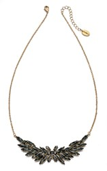 Fiorelli Costume Gold And Grey Acrylic Leaf Cluster Necklace