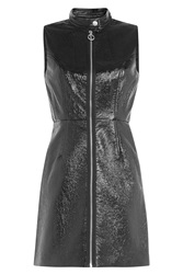 Marc By Marc Jacobs Faux Leather Dress Black