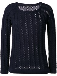 Roberto Collina Cable Knit Jumper Blue