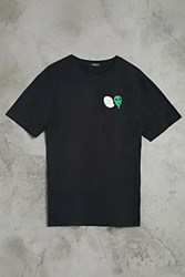 Forever 21 Sup Dude Alien Graphic Tee Black Green