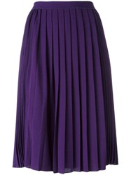 Giambattista Valli Pleated Midi Skirt Pink Purple