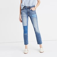 Madewell Cruiser Straight Crop Jeans Patched Up Edition Norman Wash