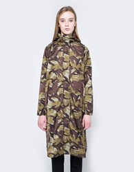 Ganni Greenwood Raincoat Camouflage
