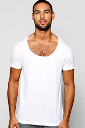 Boohoo Scoop Neck T Shirt White