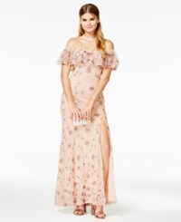 Speechless Juniors' Strapless Embroidered Boho Gown A Macy's Exclusive Style Blush