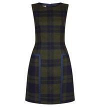 Hobbs Abbey Check Dress Khaki