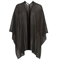 Betty And Co. Fine Knit Wrap Black