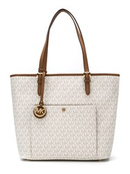 Michael Michael Kors Snap Pocket Tote Women Cotton Polyester Pvc One Size Nude Neutrals