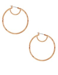 Lucky Brand Sun Kissed Moments Rose Goldtone Hinged Hoop Earrings