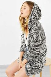 Ecote Rolled Hem Cardigan Grey Multi