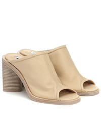 Acne Studios Exclusive To Mytheresa Bernis Leather Mules Beige