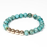 Coreymandel Co. The Golden Turquoise Talismans Bracelet Blue Gold Green