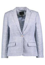 Banana Republic Windowpane Blazer Light Blue