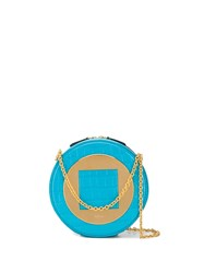 Mulberry Circle Structured Crossbody Blue