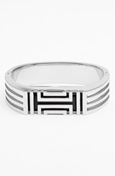 Women's Tory Burch For Fitbit Hinged Bracelet Tory Silver