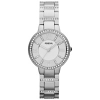 Fossil Es3282 Women's Virginia Stainless Steel Bracelet Strap Watch Silver