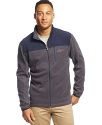 Greg Norman For Tasso Elba Big And Tall 5 Iron Performance Golf Fleece Jacket Only At Macy's Storm Grey