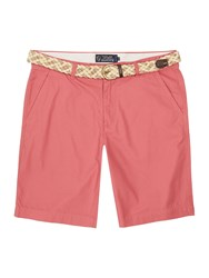 Howick Men's Boston Chino Flat Front Shorts Dusty Pink