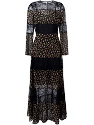 Philosophy Di Lorenzo Serafini Semi Sheer Floral Dress Black