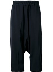 Jil Sander Drop Crotch Cropped Trousers Women Wool 34 Black